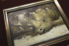 Sarvikuono maalauksen kehystys