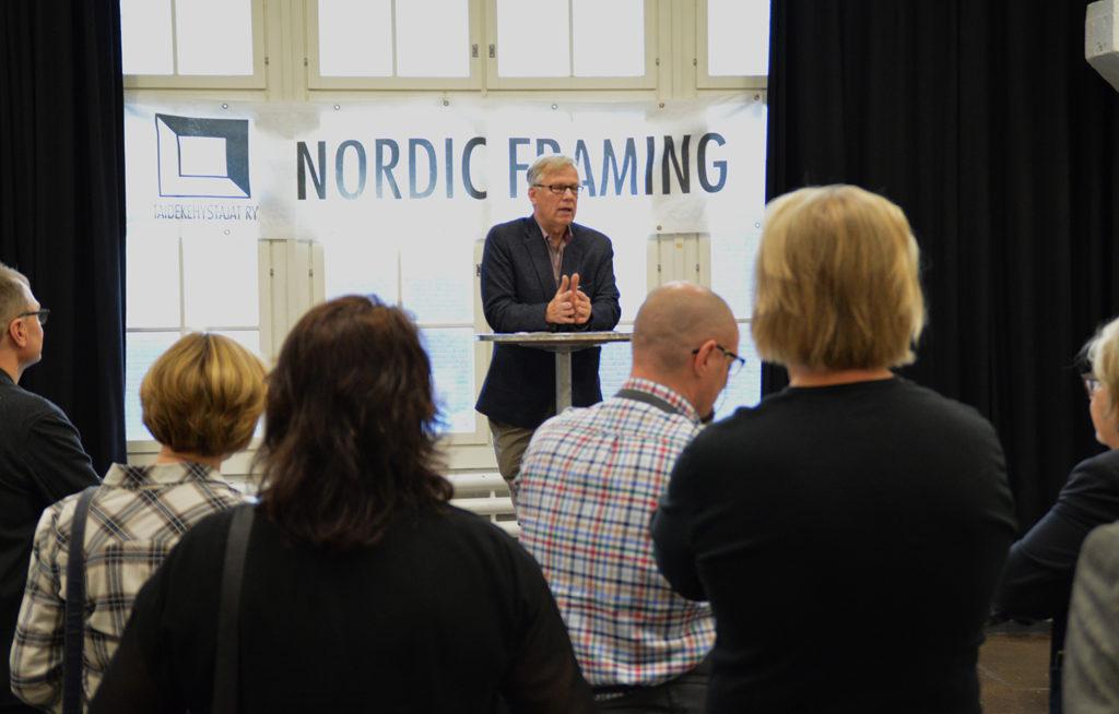 Wenzel Hagelstam puhuu Nordig Framing messuilla